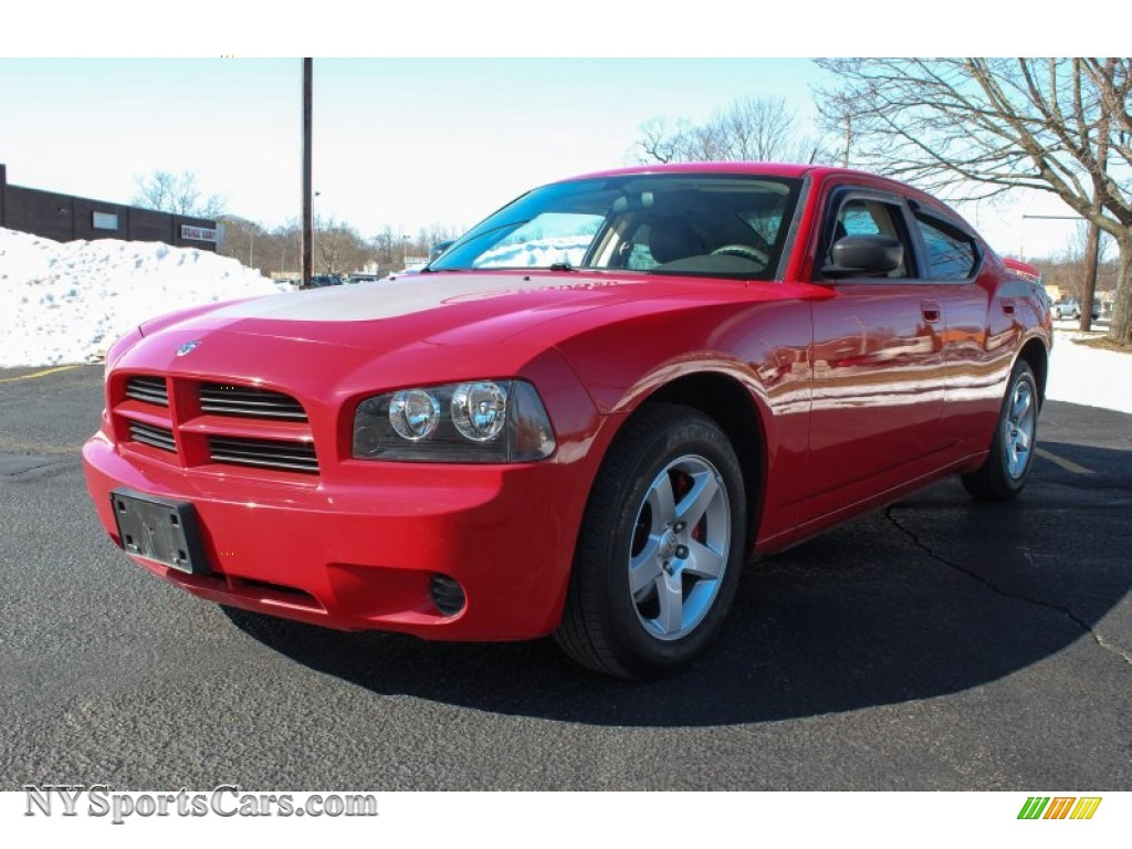 2008 dodge charger se in inferno red crystal pearl for 2008 dodge charger motor