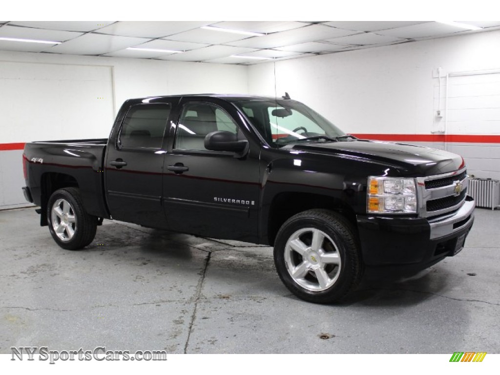 2009 chevrolet silverado 1500 lt crew cab 4x4 in black 112710 cars for. Black Bedroom Furniture Sets. Home Design Ideas
