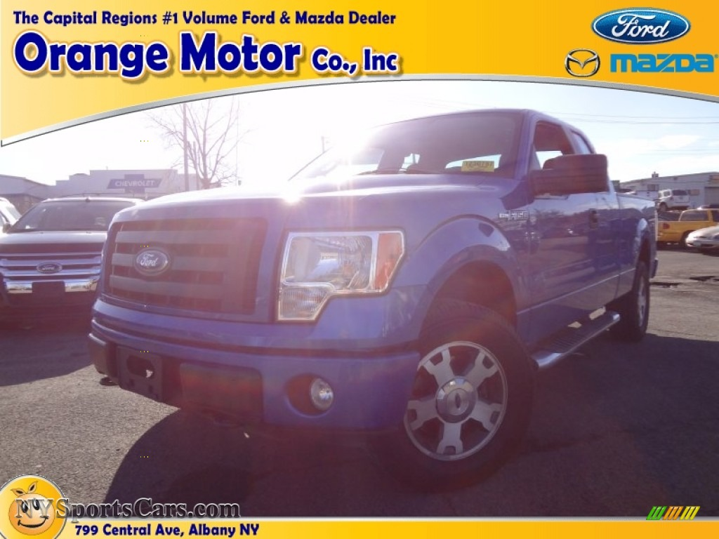2010 ford f150 stx supercab 4x4 in blue flame metallic for Orange motors albany new york