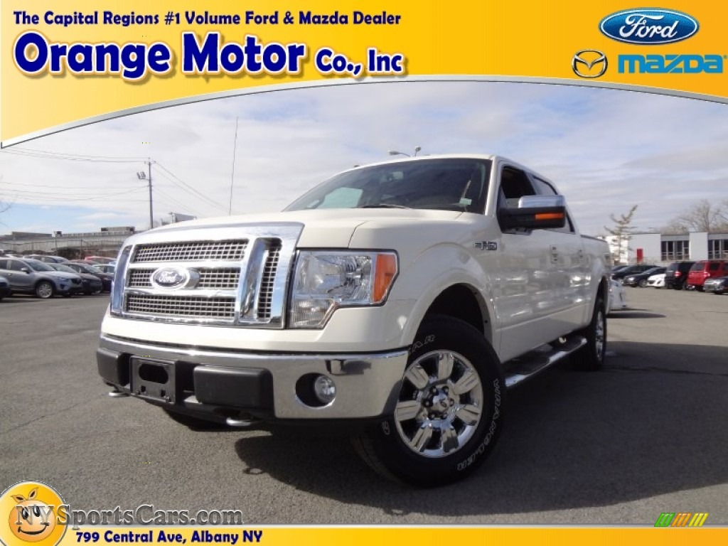 2009 ford f150 lariat supercrew 4x4 in white sand tri coat for Orange motors albany new york