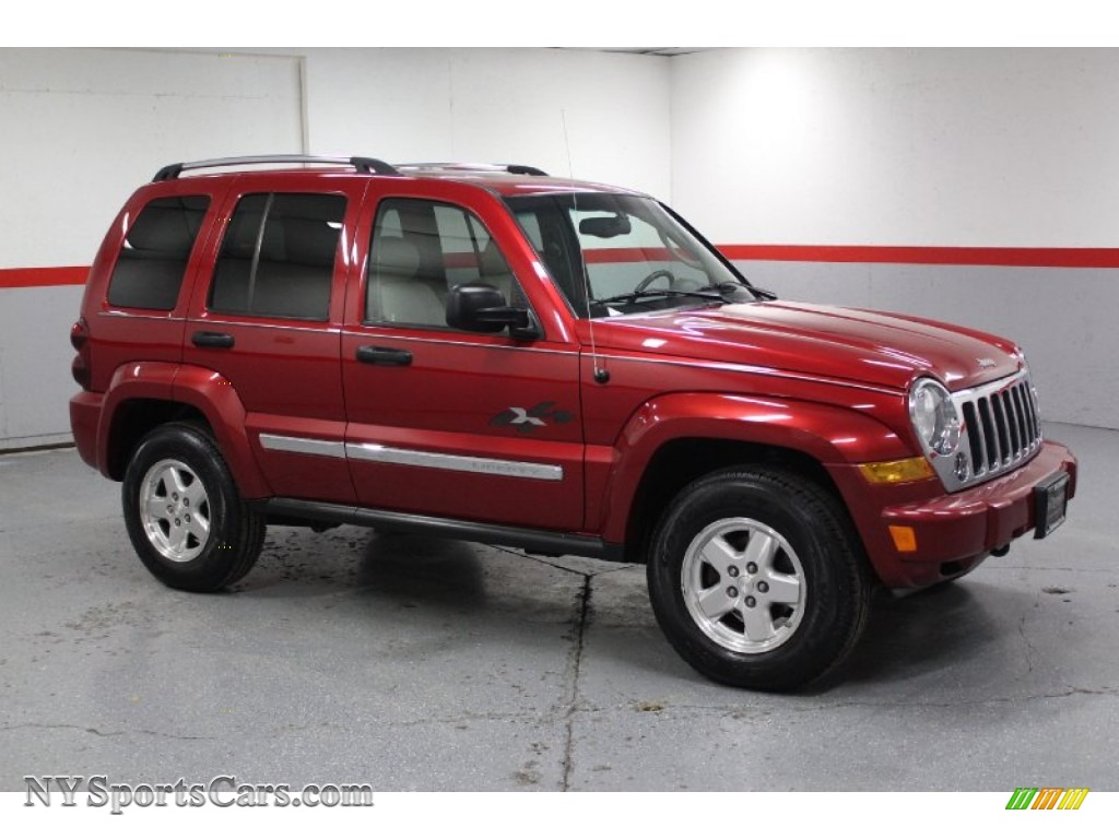 2005 jeep liberty crd limited 4x4 in inferno red crystal pearl