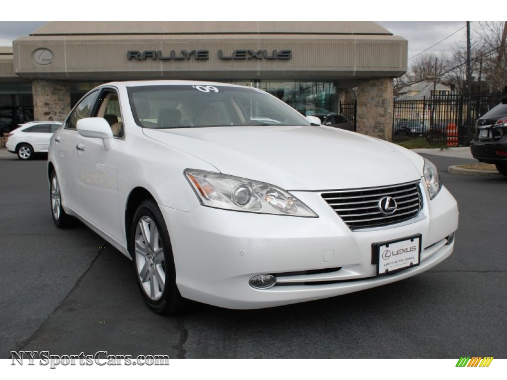 2009 lexus es 350 in starfire pearl white 306361. Black Bedroom Furniture Sets. Home Design Ideas