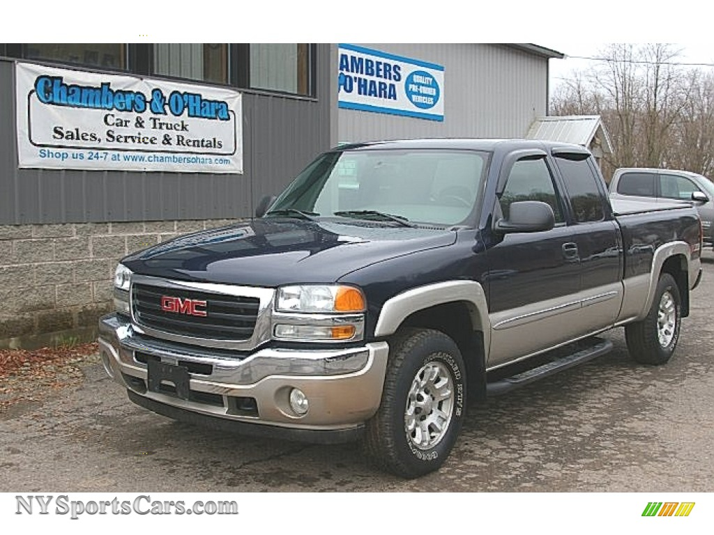 2005 gmc sierra 1500 sle extended cab 4x4 in deep blue metallic 231314. Black Bedroom Furniture Sets. Home Design Ideas