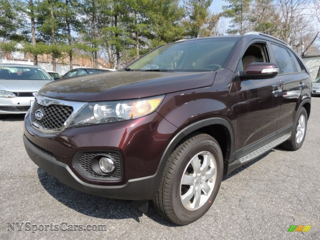 2012 Sorento LX - Dark Cherry / Beige photo #1