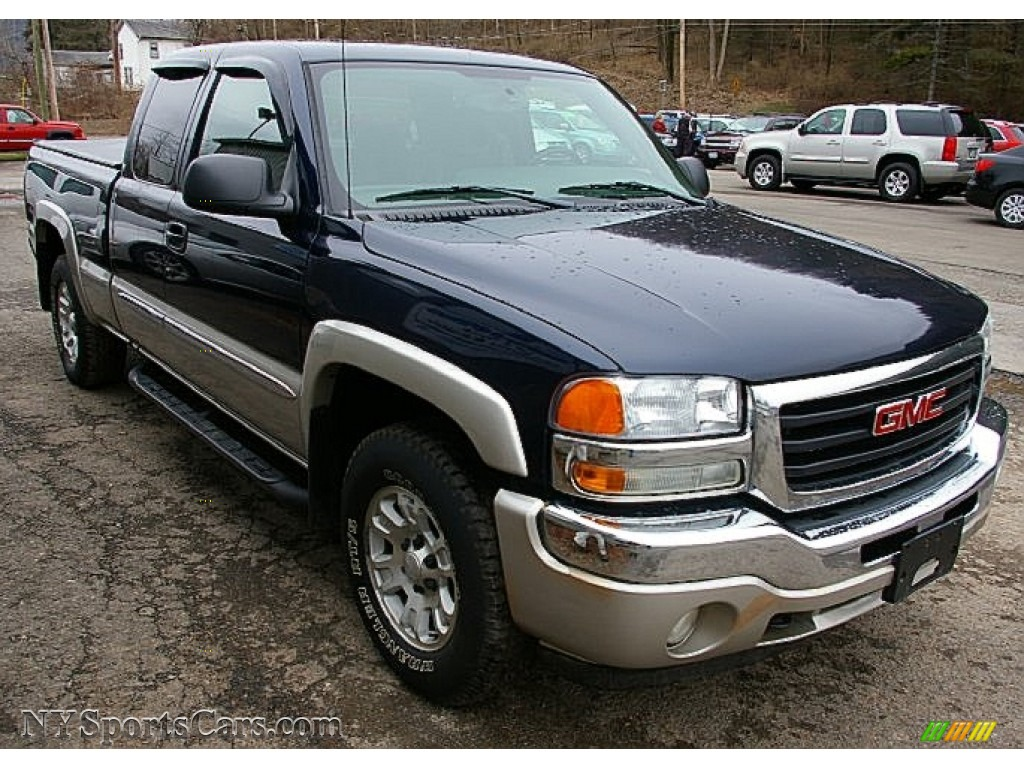2005 gmc sierra 1500 sle extended cab 4x4 in deep blue metallic photo 9 231314 nysportscars. Black Bedroom Furniture Sets. Home Design Ideas