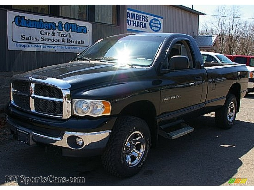 2002 Dodge Ram 1500 For Sale >> 2002 Dodge Ram 1500 Slt Regular Cab 4x4 In Black 227667