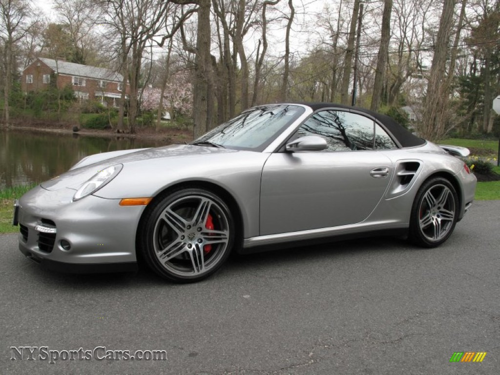 2008 porsche 911 turbo cabriolet in gt silver metallic 789222 cars for. Black Bedroom Furniture Sets. Home Design Ideas