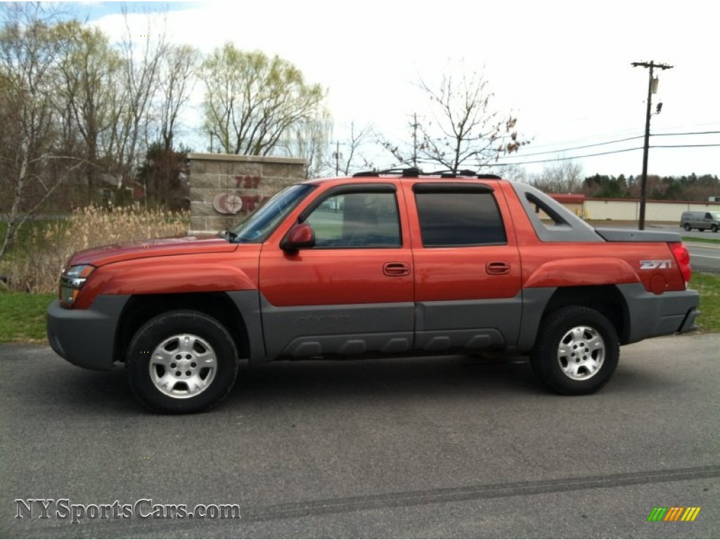 2002 chevrolet avalanche z71 4x4 in sunset orange metallic 291347 cars. Black Bedroom Furniture Sets. Home Design Ideas