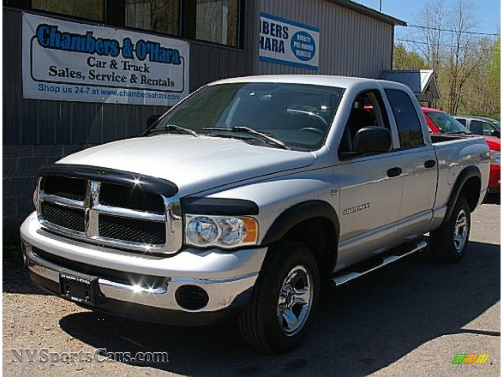 2004 dodge ram 1500 slt quad cab 4x4 in bright silver. Black Bedroom Furniture Sets. Home Design Ideas