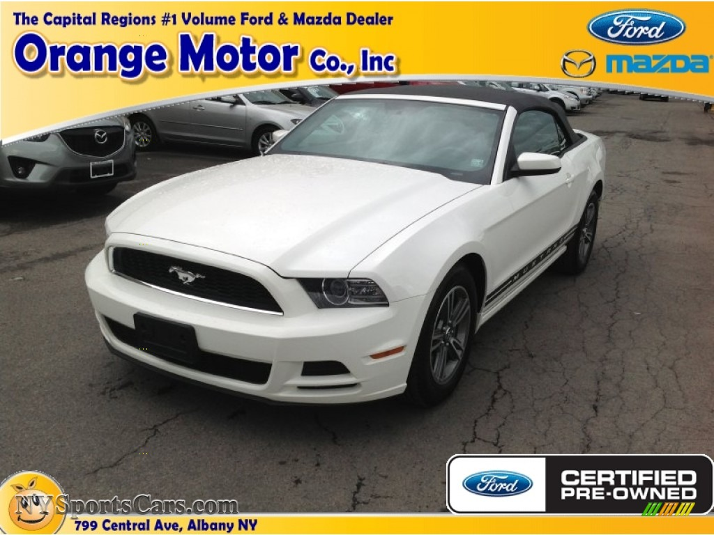 performance white charcoal black ford mustang v6 premium convertible