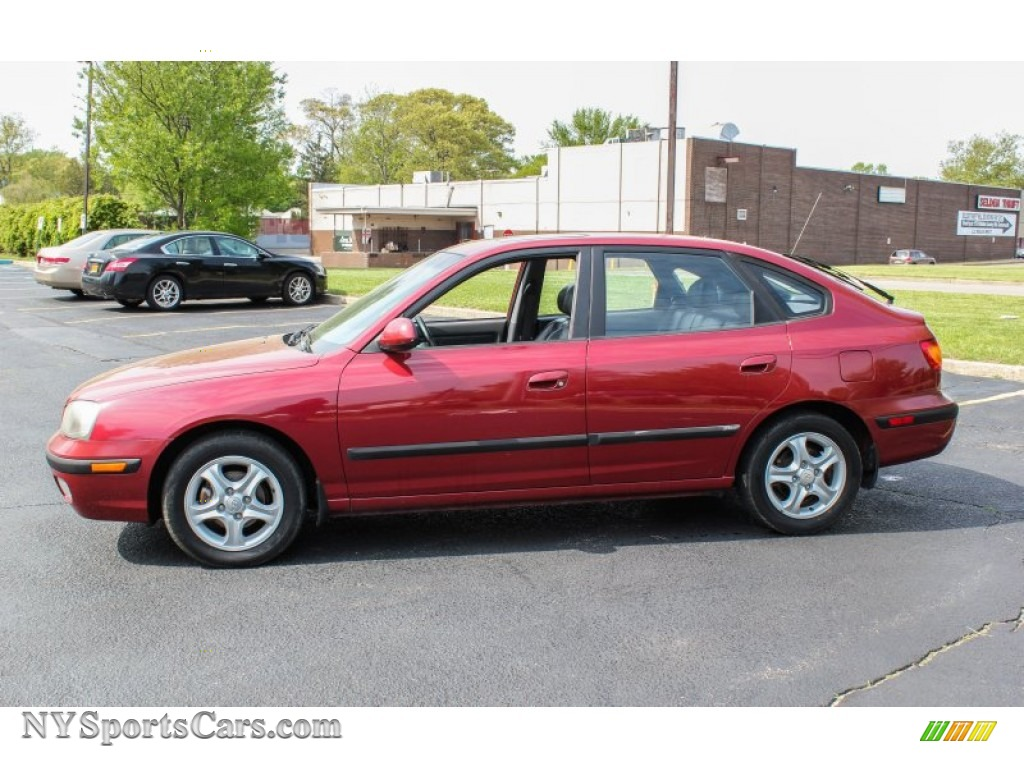 2003 hyundai elantra gt hatchback in chianti red photo 3 077592 nysportscars com cars for sale in new york nysportscars com