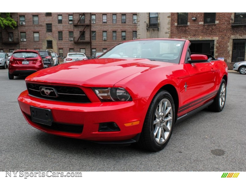 2010 ford mustang v6 premium convertible in torch red 136117 cars for. Black Bedroom Furniture Sets. Home Design Ideas