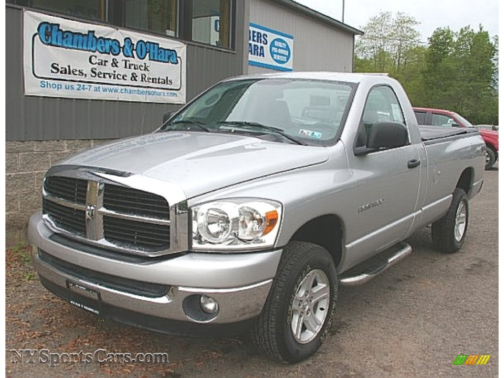 2007 dodge ram 1500 slt regular cab 4x4 in bright silver. Black Bedroom Furniture Sets. Home Design Ideas