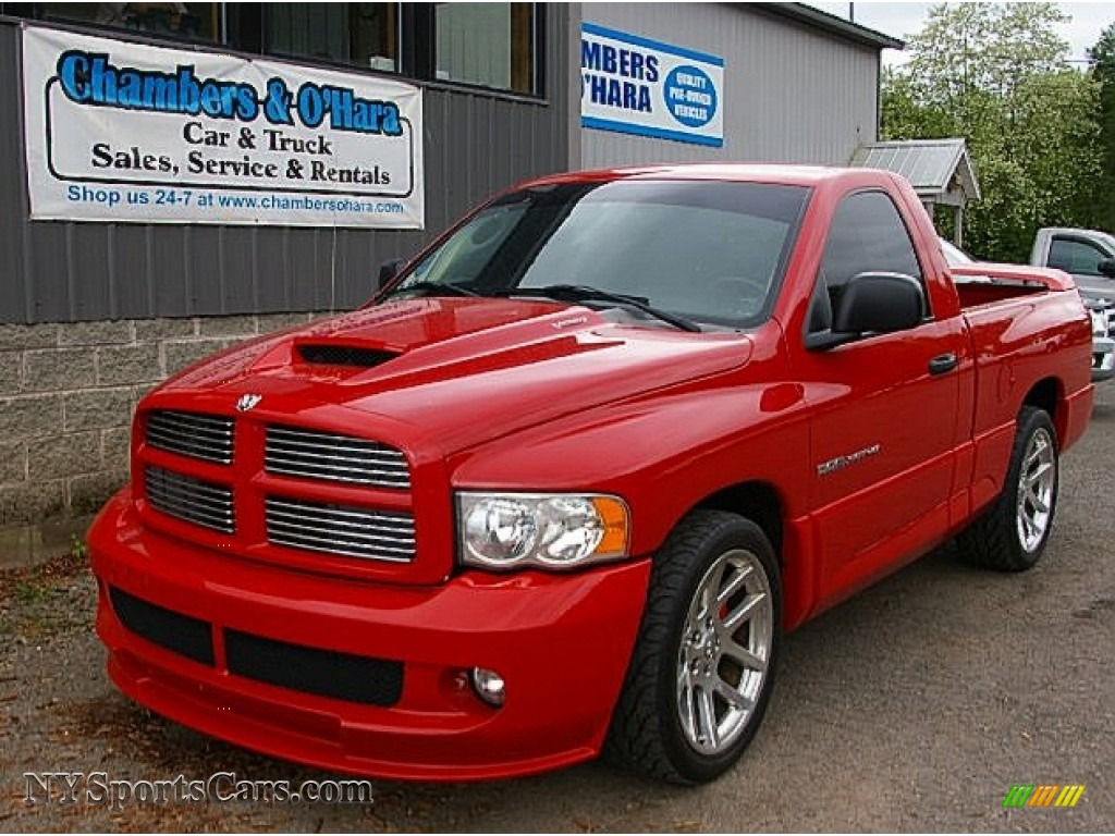 2005 dodge ram 1500 srt 10 regular cab in flame red 788089 cars for sale. Black Bedroom Furniture Sets. Home Design Ideas