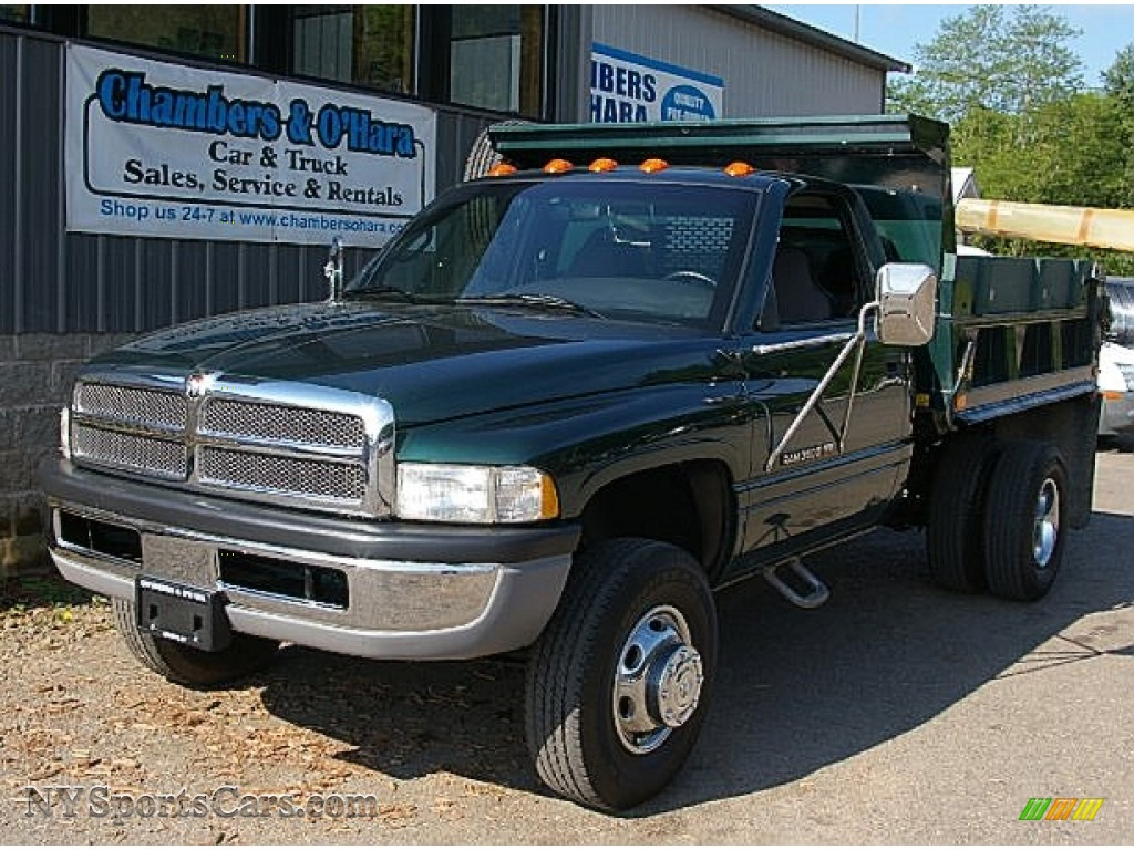2000 Dodge Ram 3500 Slt Regular Cab Dump Truck In Forest Green Pearl