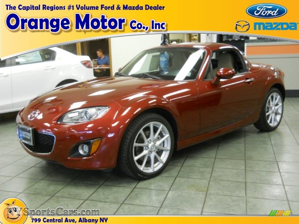 2012 mazda mx 5 miata grand touring hard top roadster in for Orange motors albany new york