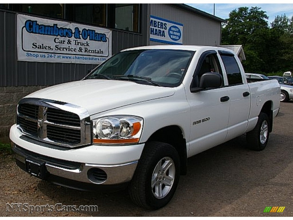 2006 dodge ram 1500 slt quad cab 4x4 in bright white. Black Bedroom Furniture Sets. Home Design Ideas