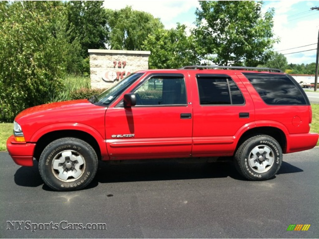 2002 chevrolet blazer ls 4x4 in victory red 147389 nysportscars com cars for sale in new york nysportscars com