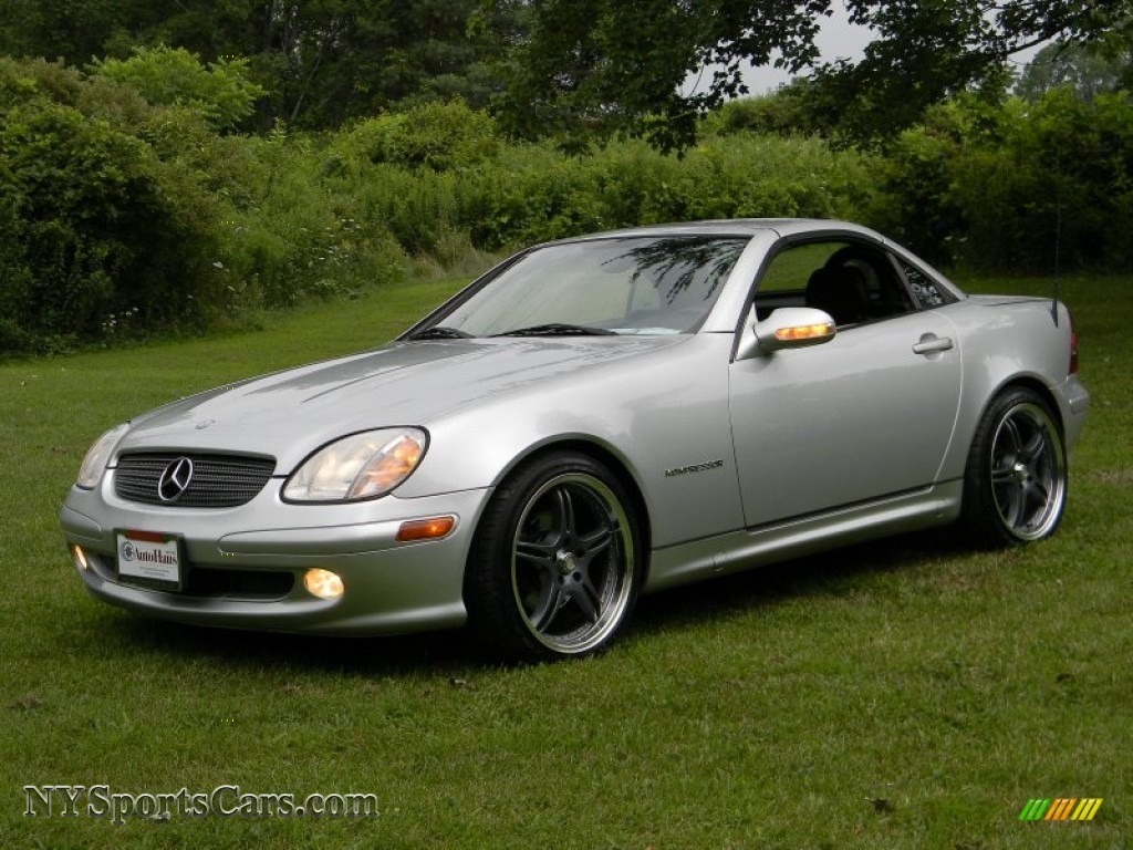 2001 mercedes benz slk 230 kompressor roadster in brilliant silver metallic 212737. Black Bedroom Furniture Sets. Home Design Ideas