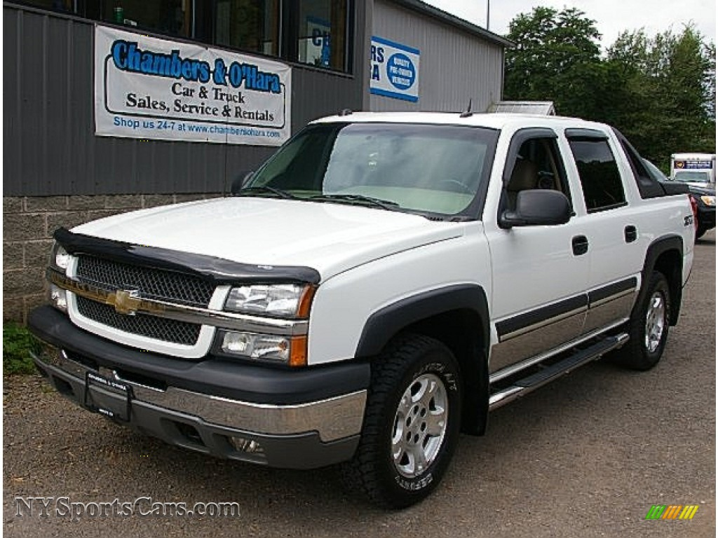 2004 chevrolet avalanche 1500 z71 4x4 in summit white 341862 cars for. Black Bedroom Furniture Sets. Home Design Ideas