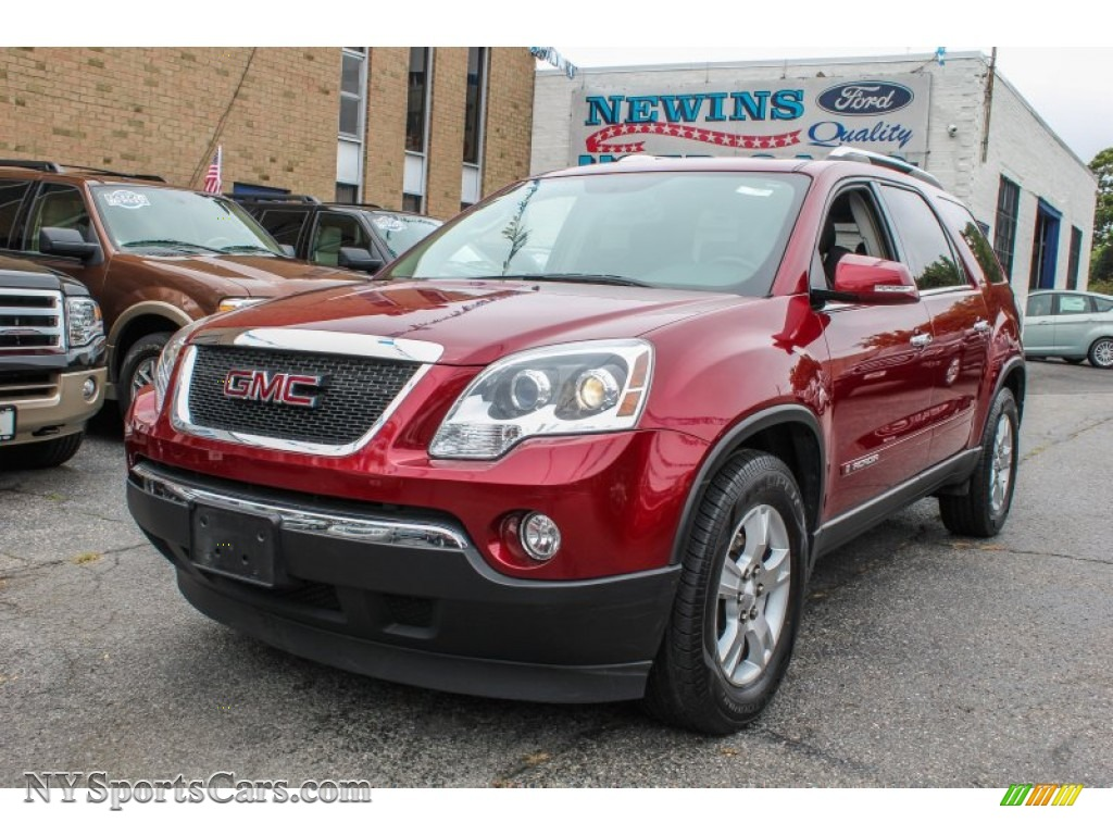 2007 gmc acadia slt in red jewel tintcoat 129220 cars for sale in new york. Black Bedroom Furniture Sets. Home Design Ideas