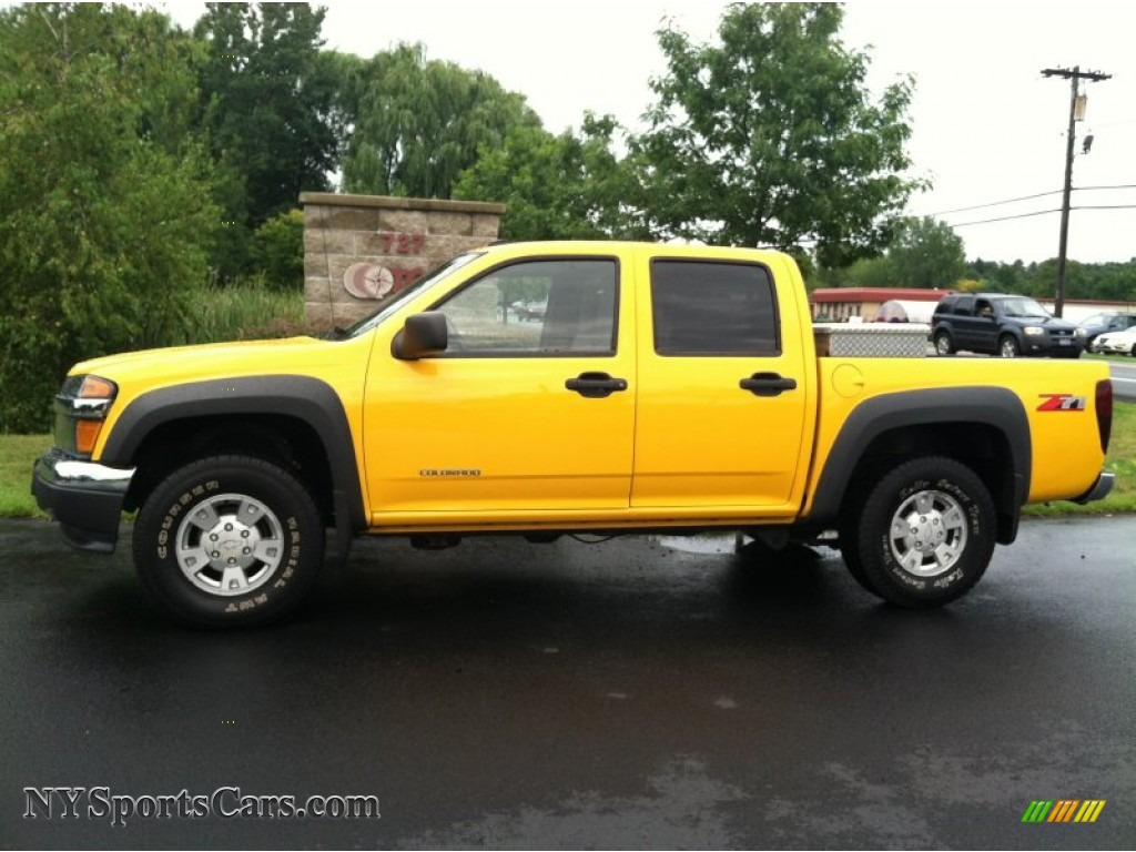 2005 chevrolet colorado z71 crew cab in yellow - 190252