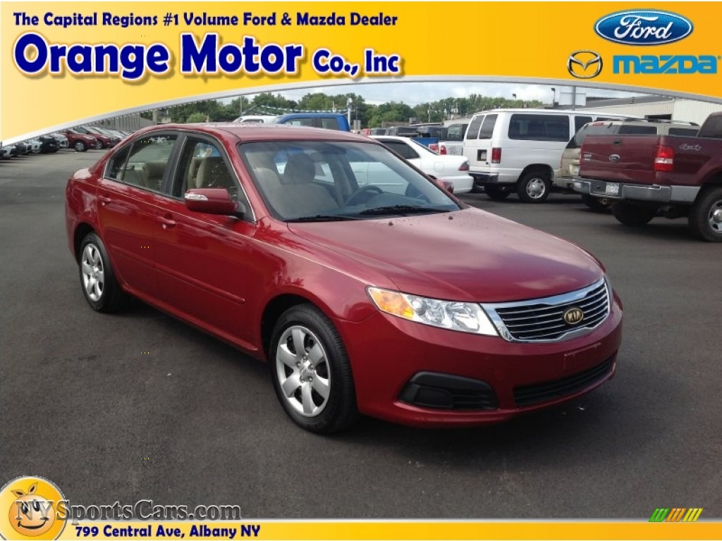 2009 kia optima lx in ruby red 315374 for Orange motors albany new york