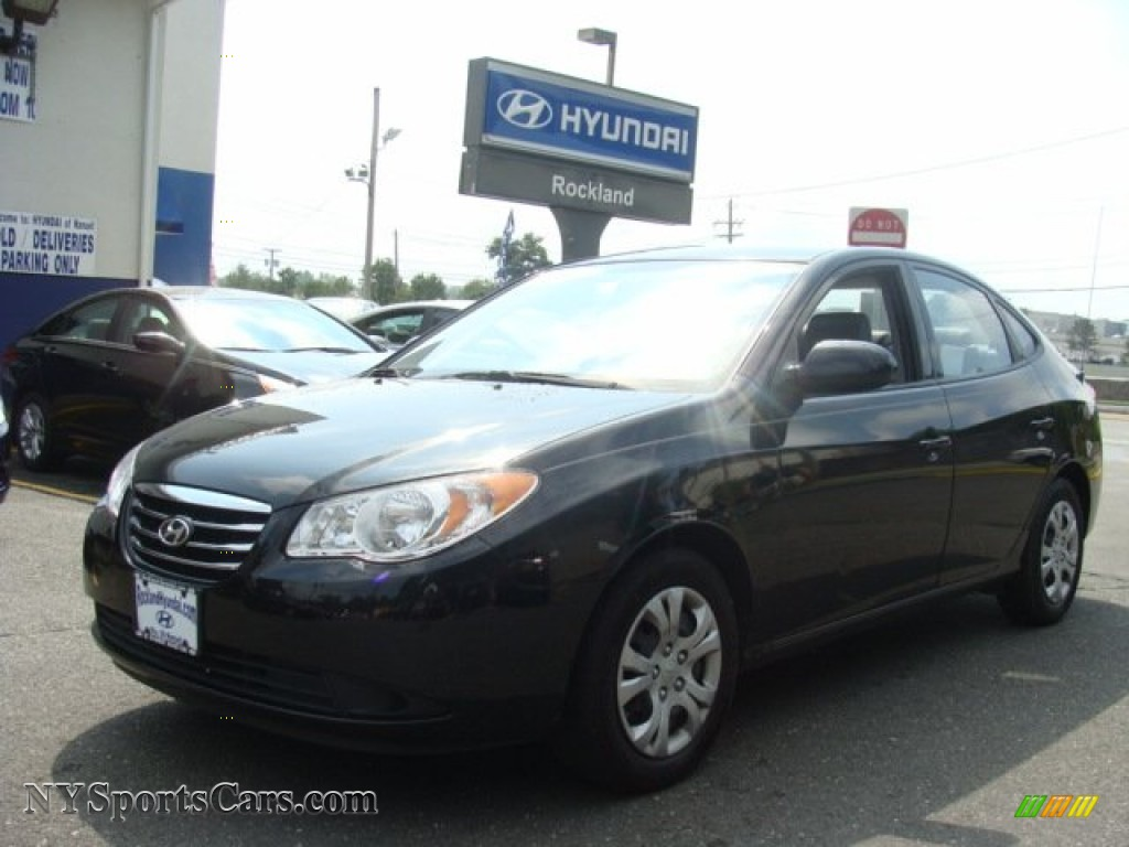 2010 Elantra Blue - Ebony Black / Gray photo #1