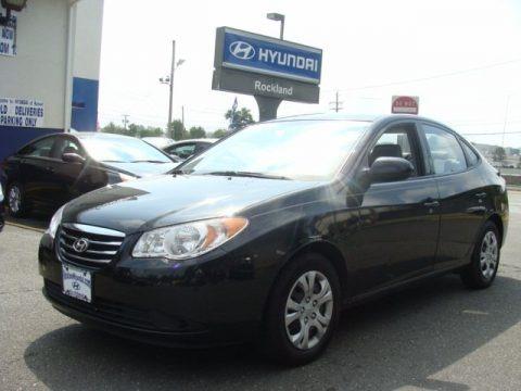 Ebony Black 2010 Hyundai Elantra Blue
