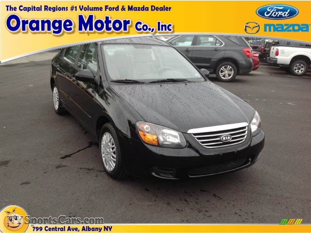2009 kia spectra ex sedan in ebony black 621323 for Orange motors albany new york