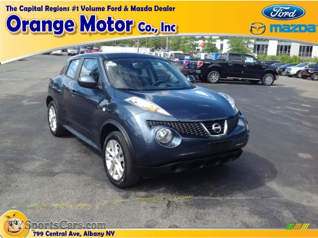 2011 nissan juke s awd in graphite blue 017475 for Orange motors albany new york