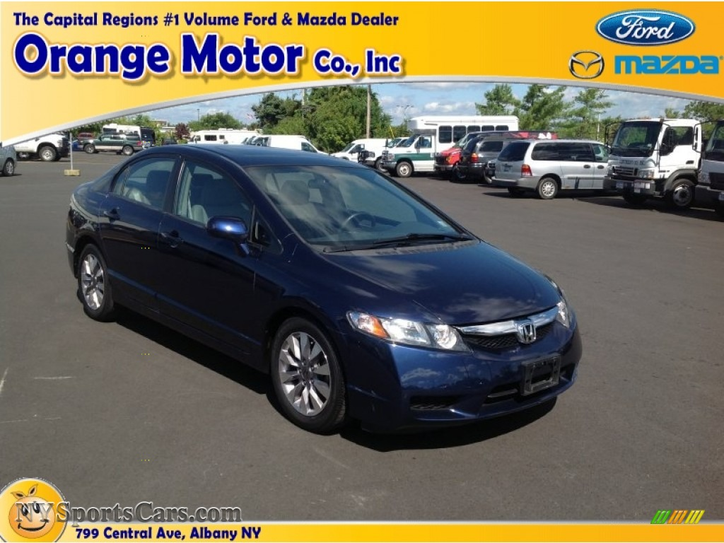 2009 honda civic ex l sedan in royal blue pearl 500919 for Orange motors albany new york