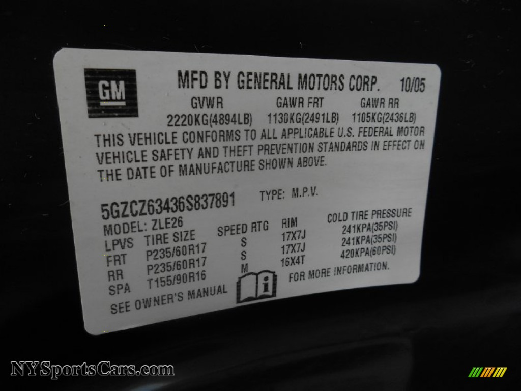 2006 VUE V6 AWD - Black Onyx / Gray photo #29
