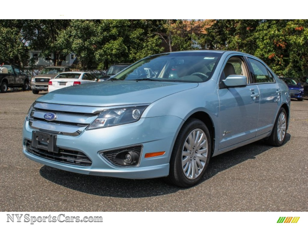2010 Ford Fusion Hybrid in Light Ice Blue Metallic ...
