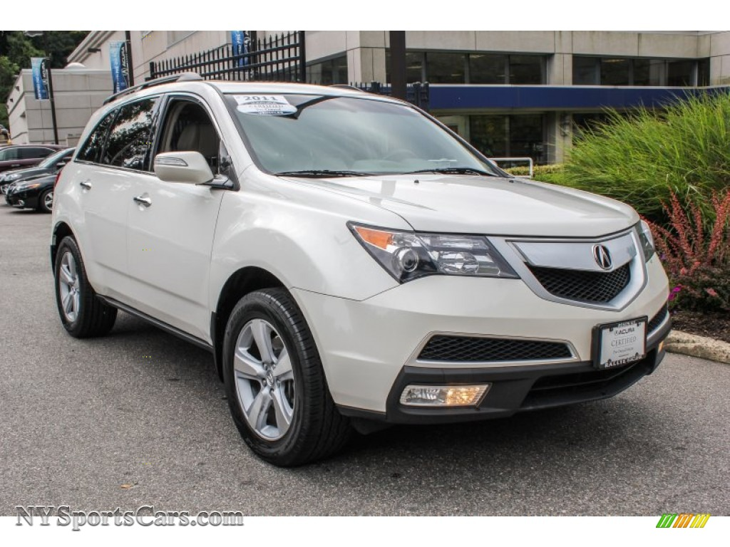 2011 acura mdx technology in aspen white pearl 510125. Black Bedroom Furniture Sets. Home Design Ideas