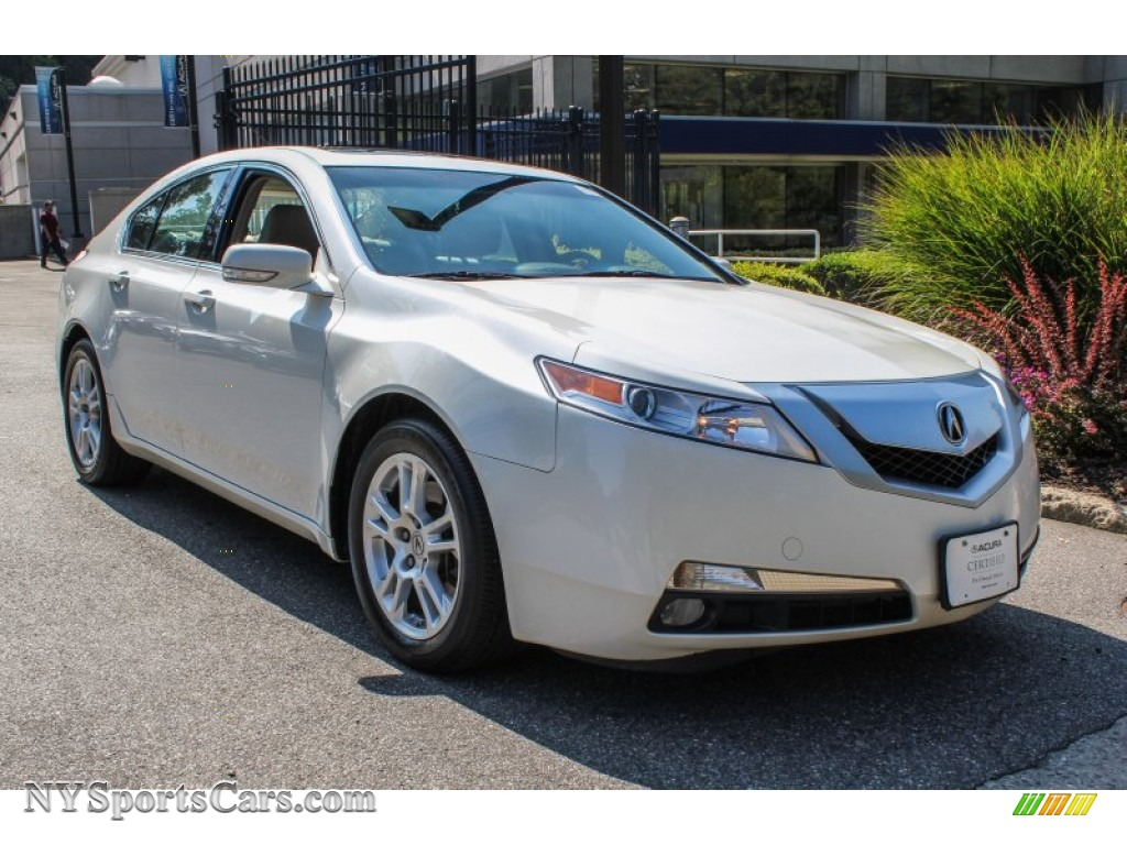 White diamond pearl taupe gray acura tl 3 5
