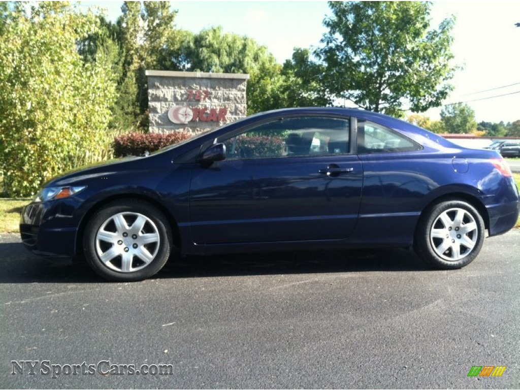 2010 honda civic lx coupe in royal blue pearl 516638. Black Bedroom Furniture Sets. Home Design Ideas