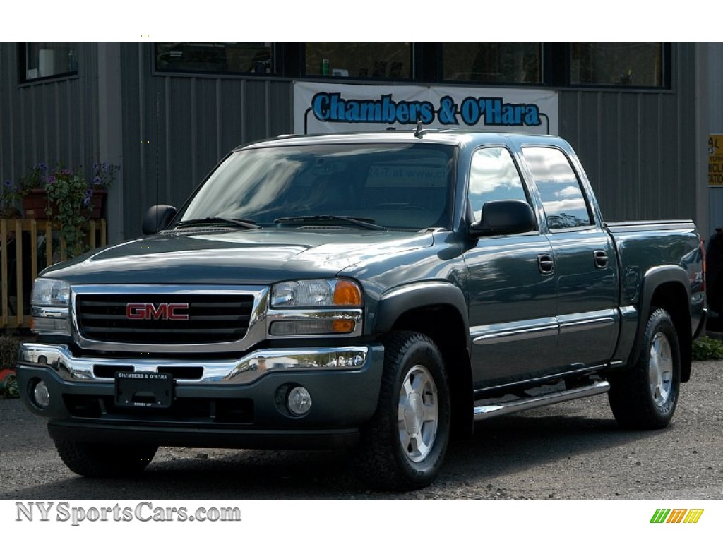 2006 gmc sierra 1500 slt z71 crew cab 4x4 in stealth gray metallic 166763. Black Bedroom Furniture Sets. Home Design Ideas