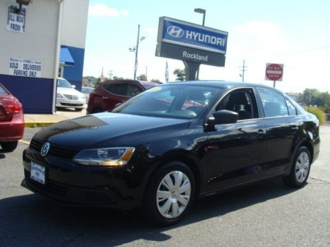 Black 2011 Volkswagen Jetta S Sedan