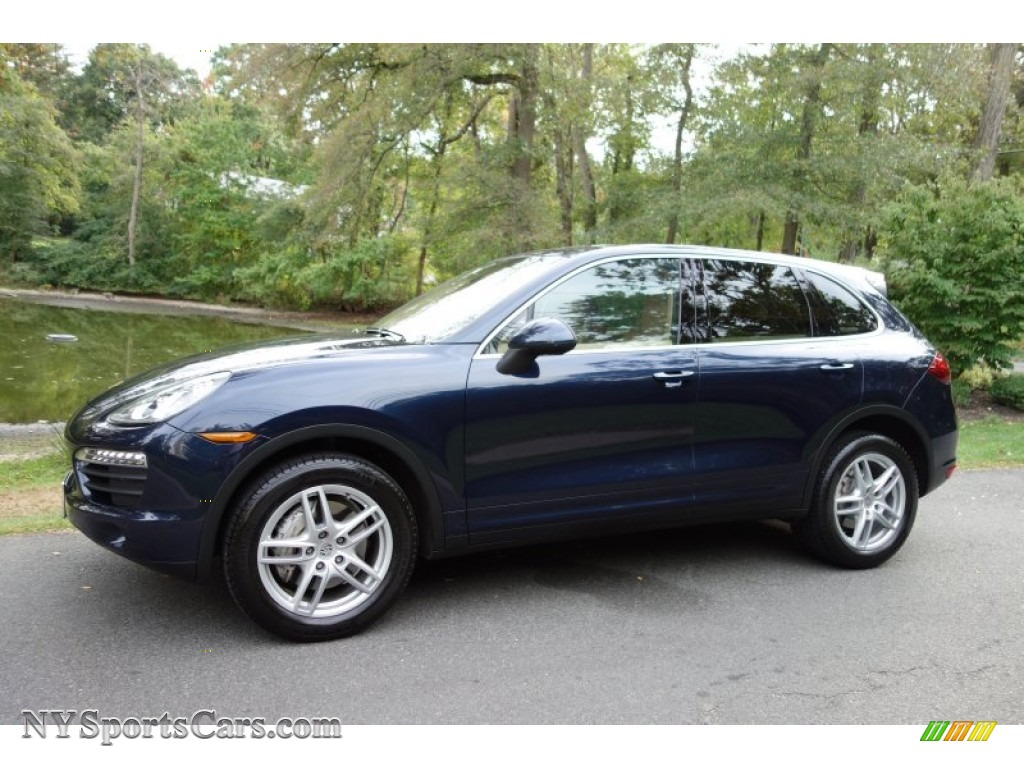 2011 porsche cayenne s in dark blue metallic a42737. Black Bedroom Furniture Sets. Home Design Ideas