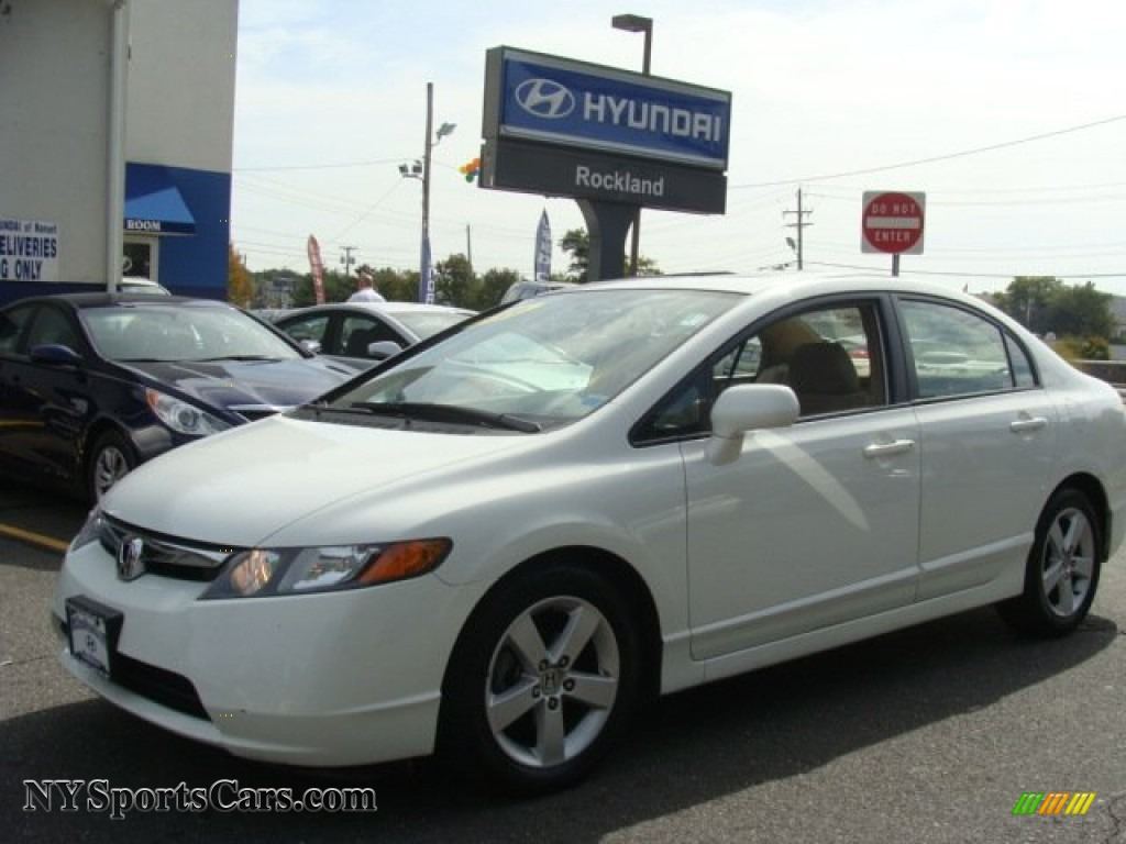 2006 Honda Civic Ex Sedan In Taffeta White For Sale 121844 Nysportscars Com Cars For Sale