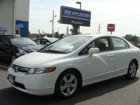 Taffeta White 2006 Honda Civic EX Sedan
