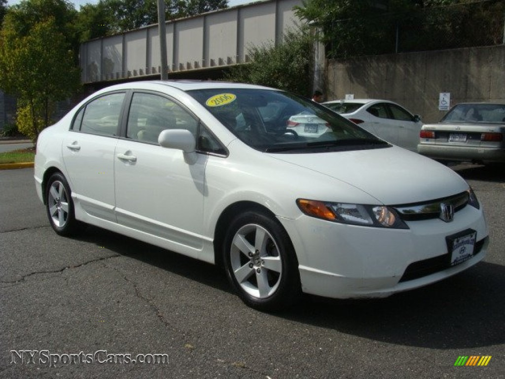 2006 honda civic ex sedan in taffeta white for sale photo 3 121844 cars. Black Bedroom Furniture Sets. Home Design Ideas