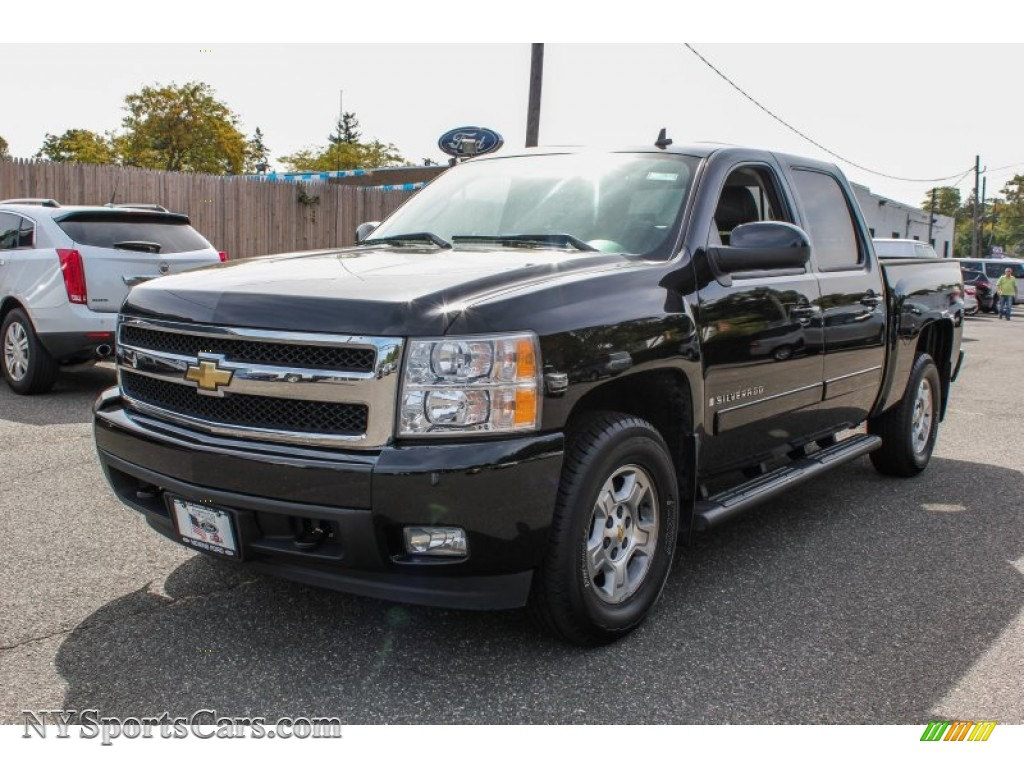2007 chevrolet silverado 1500 ltz crew cab 4x4 in black. Black Bedroom Furniture Sets. Home Design Ideas