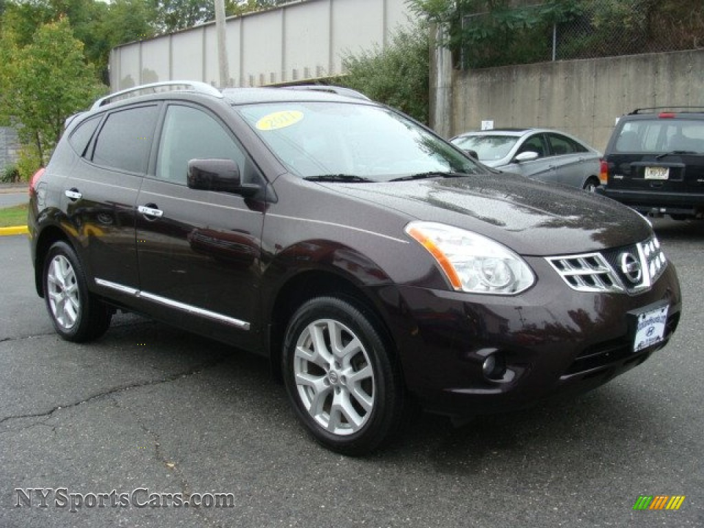 2011 Rogue SV AWD - Black Amethyst / Black photo #3