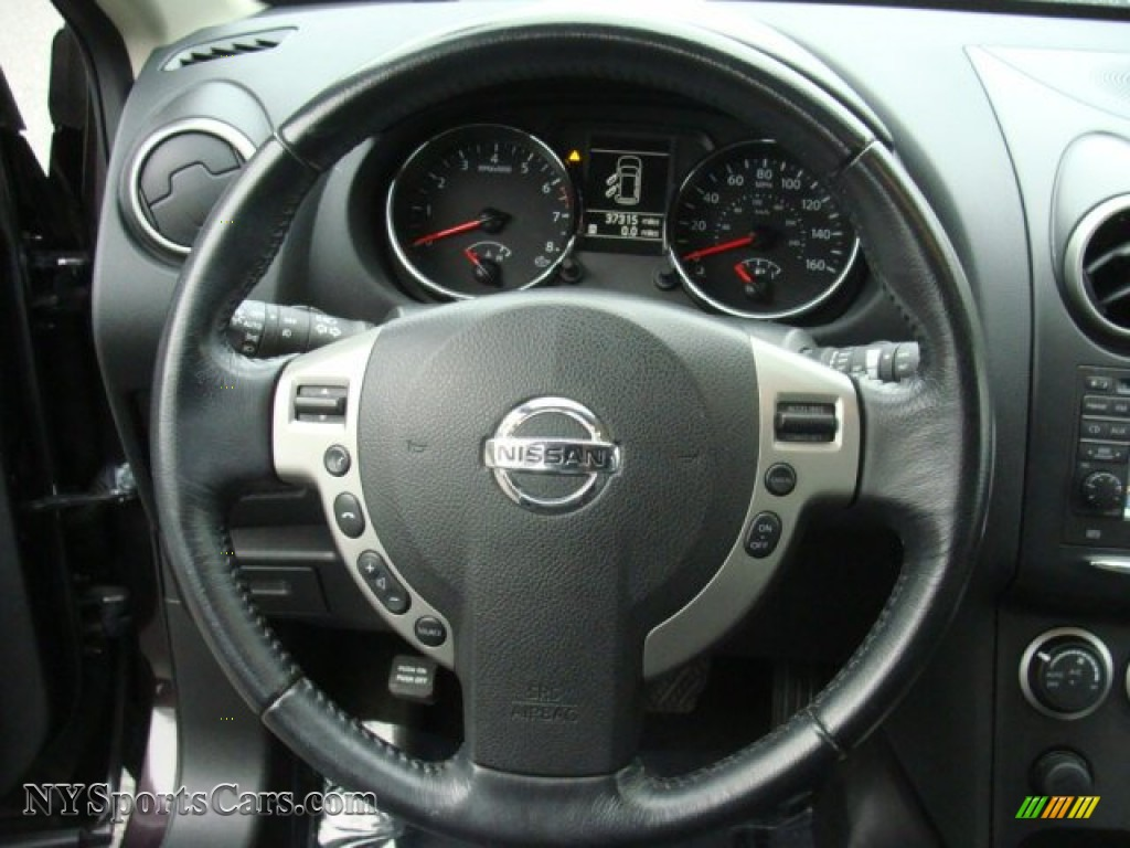 2011 Rogue SV AWD - Black Amethyst / Black photo #14