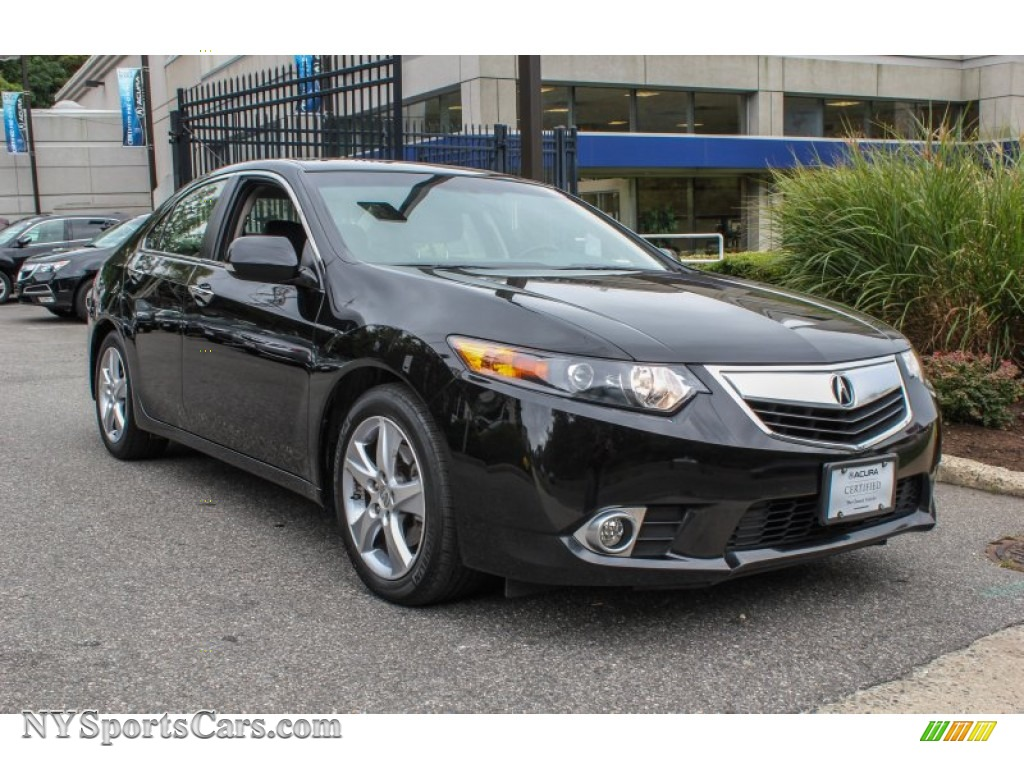 2012 acura tsx sedan in crystal black pearl 014293 cars for sale in new york. Black Bedroom Furniture Sets. Home Design Ideas