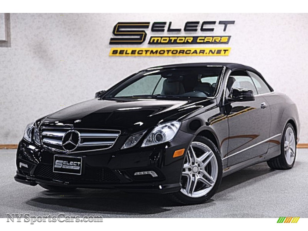 2011 mercedes benz e 550 cabriolet in black 067527 cars for sale in new york. Black Bedroom Furniture Sets. Home Design Ideas