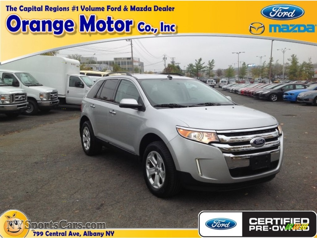 2011 ford edge sel awd in ingot silver metallic b25237 for Orange motors albany new york