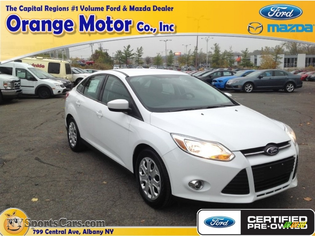 2012 ford focus se sedan in oxford white photo 16 for Orange motors albany new york